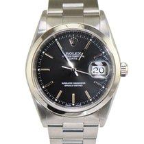 Rolex Date Stainless Steel Black 15200