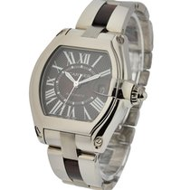 Cartier w6206000 Roadster XL in White Gold with Walnut Wood -...