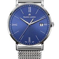 Maurice Lacroix Eliros Date Blue Dial, Steel Milanaise Strap,...