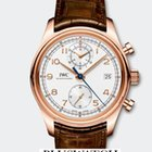 IWC Portoghese Chronograph Classic Red Gold 18K Silver Dial