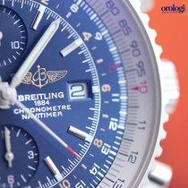 Breitling Men's Navitimer World Steel on Leather Blue  Face