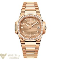 Patek Philippe Nautilus 18K Rose Gold Ladies Watch with Bracelet