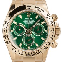 Rolex Cosmograph Daytona Yellow Gold Green Dial 116508