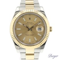 Rolex Datejust II Rolesor Champagne Fluted