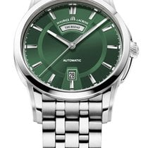 Maurice Lacroix Pontos Day/Date Green Dial, Steel Bracelet