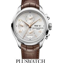 Baume & Mercier Clifton Automatic Chronograph Silver Dial ...