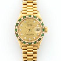 Rolex Yellow Gold Datejust President Diamond Emerald, Ref. 69198