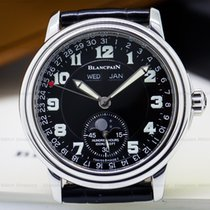 Blancpain 2763-1130MA-63 Leman Complete Calendar Black...