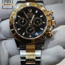 Rolex Daytona 40 Black Steel and Yellow Gold 116523