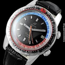 Enicar 1969 Sherpa Guide GMT Pepsi Bezel World Time Mens...