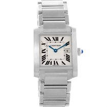 Cartier Tank Francaise Midsize Quartz Stainless Steel Watch...