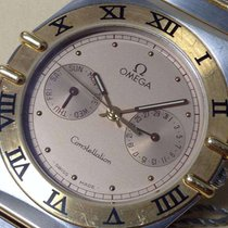 Omega Constellation Mens Watch Gold Steel Quartz