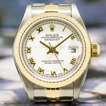 Rolex 79173 Lady Datejust White Roman Dial 18K / SS (27096)