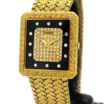 Piaget 18K Gold 91542 D2, Orig. Diamond & Black Onyx Dial