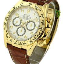 Rolex Used 16518 Yellow Gold Daytona on Strap with Zenith...