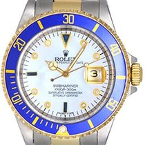 Rolex Diamond Rolex Submariner Men's 2-Tone Watch 16613