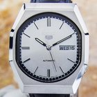Seiko 5 Automatic Mens Rare Large Retro Style 1970s Watch Made...