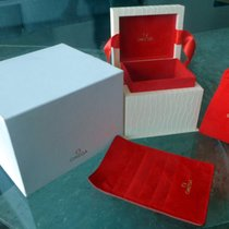 Omega White Gift Box Set with red Ribbon & Card Holder