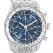 ブライトリング (Breitling) Navitimer World Gmt Chronograph Blue Dial...