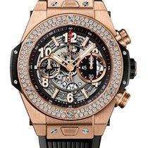 Hublot Big Bang 45mm Unico 18K King Gold Diamonds Men`s Watch