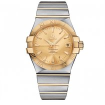 Omega Constellation  SS & Yellow Gold Mens watch 123.20.35...