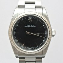 Rolex Oyster Perpetual Midsize White Gold Bezel 77014