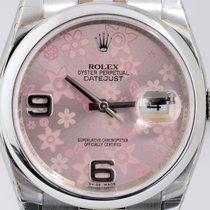 Rolex Datejust rehault pink floral Dial Jubileeband Steel Top...