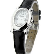 Chopard 27/7465/23 Happy Sport Oval White Gold - on Black...