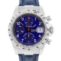 Tudor 79280 Tiger Prince Date Chronograph Blue Dial Watch