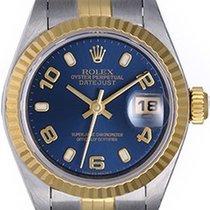 Rolex Ladies Datejust 2-Tone Steel & Gold Watch 79173 Blue...