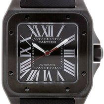Cartier Santos 100 Carbon Large Leather Automatic Men's...