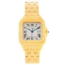 Cartier Panthere Date Xl 18k Yellow Gold Watch W25014b9