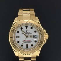Rolex Yacht-Master 40mm 18k Yellow Gold White Dial Ref. 16628...