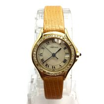 Cartier Couger 18k Solid Yellow Gold Ladies Watch W/ Diamonds...