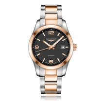 Longines Conquest Classic Rose Gold Automatic Mens Watch...