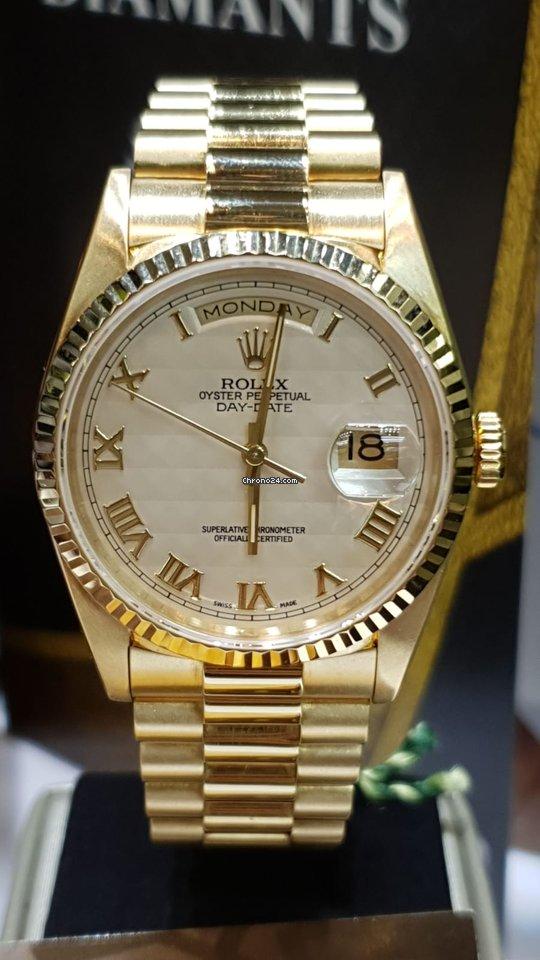 6af09ed2da4f Rolex Day-Date yellow gold rare cream dial en venta por MX  320