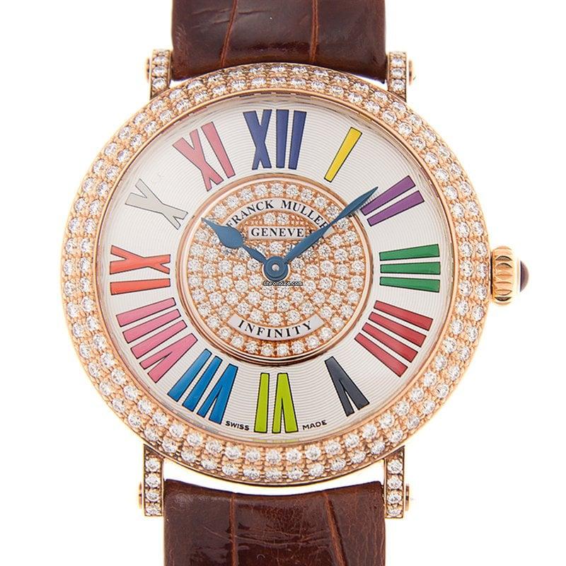 ef1b1ba40fa Franck Muller Round 18 K Rose Gold With Diamonds White Quartz... por 13.742  € para vender por um Trusted Seller na Chrono24