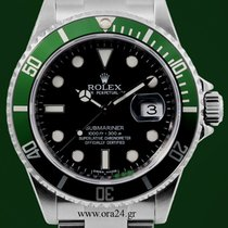 Rolex Submariner 16610LV Green M Series Engraved Serial...
