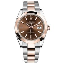 ロレックス (Rolex) Datejust II Steel and Rose Gold Chocolate Stick...