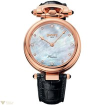 Bovet Fleurier 18k Rose Gold & Diamonds Unisex Watch