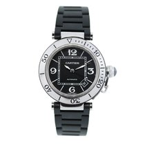Cartier Pasha Seatimer W31088U2 Stainess Steel and Rubber Watch
