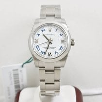 Rolex Oyster Perpetual Lady 177200 White Roman Dial Box &...