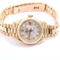 Rolex Ladies 18K Yellow Gold President - Mother Of Pearl...