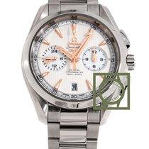 Omega Seamaster Aqua Terra GMT chronograph 43mm silver dial