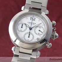 Cartier Pasha Chronograph Stahl Herrenuhr Medium Automatik Ref...