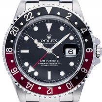Rolex GMT Master II rot schwarz Coke Stahl Automatik Armband...