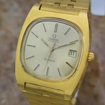 Omega Geneve Automatic Mens 36mm Gold Plated 1970s Collector...