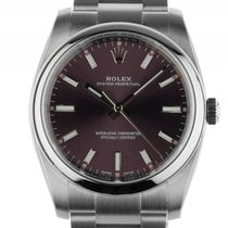 Rolex Oyster Perpetual Red Grape Stahl Automatik Armband...
