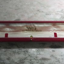 Wyler Vetta vintage watch box red leather lady
