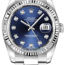 Rolex Datejust 36mm Stainless Steel 116234 Blue Diamond Oyster